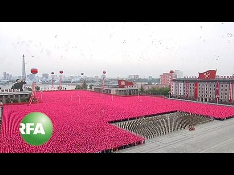 North Koreans Celebrate End to Party Congress