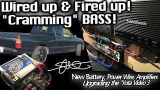 "Wired up & Fired up! CRAMMING BASS! 2 12"" Subs 2 RF Prime Amps - Upgrading the 'Yota Video 3"