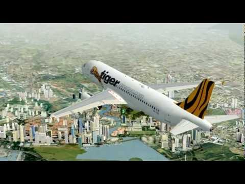 FSX Tiger Airways Airbus A320 Changi to Taoyuan Airport