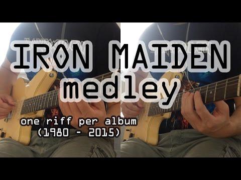 Iron Maiden Chronological Medley (dual Guitar Cover) - 16 Riffs