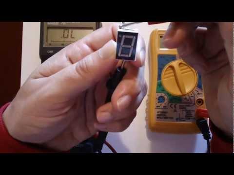 Uso Multimetro. medir Continuidad y prueba de LED