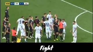 Argentina vs Croatia Fight!!