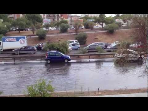 Strade allagate a Palermo 01/09/2012