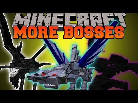 Minecraft: MORE BOSSES (DIMENSIONS. BOSSES. GIRLFRIENDS) OreSpawn Mod Showcase