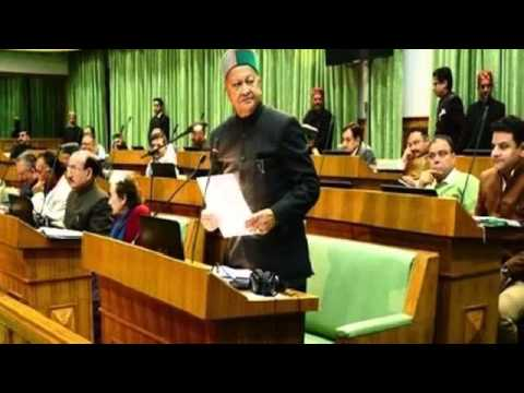 Himachal CM Virbhadra Singh dances in assembly to the tune of opposition's slogans 360p