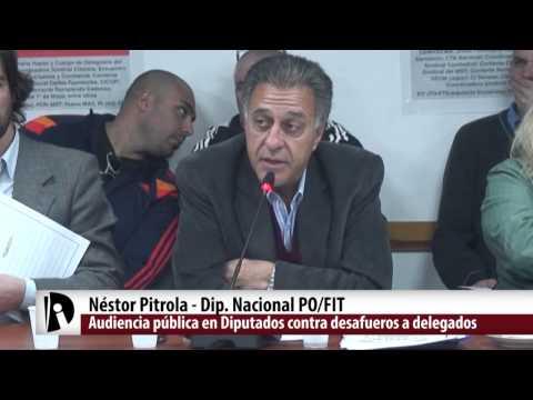 Audiencia pública en diputados contra desafueros a ferroviarios