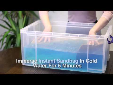 Instant Flood Sandbags