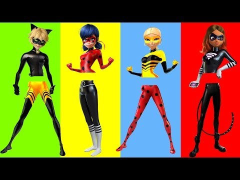 Wrong Legs Ladybug Cat Noir Lady Wifi Queen Bee Finger Family Song Nursery Rhymes