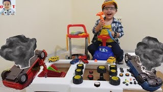 Cars Were Accident, Repairer Yusuf Repaires Cars|Learn Colours with Repair Kit