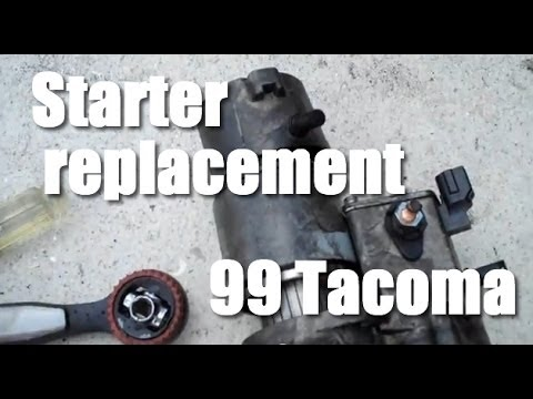 Starter Replacement 1999 Toyota Tacoma 3 4 V 6 Youtube