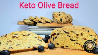 HOW TO MAKE KETO OLIVE BREAD - SMELL & TASTE INCREDIBLE !