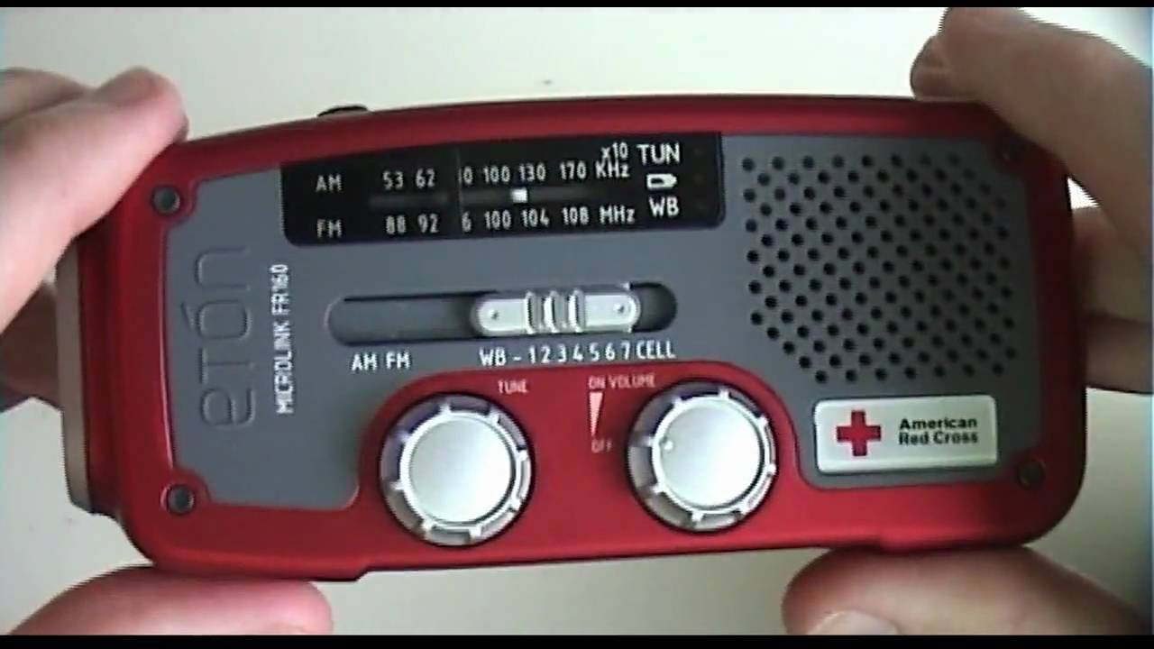 american red cross microlink fr160 emergency radio by et n. Black Bedroom Furniture Sets. Home Design Ideas