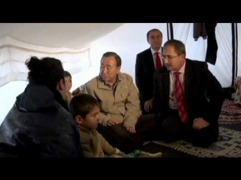 Ban Ki-moon'dan Suriyeli mültecilere ziyaret