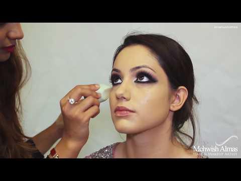 Arabic inspired Pakistani Bridal Makeup tutorial by Mehwish Almas
