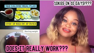 I TRIED VERSATILE VICKY'S LOSE 10KG IN 10 DAYS EGG DIET | 900 CALORIES DIET