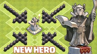 Clash Of Clans - GRAND WARDEN DEFENSE MODE!!!