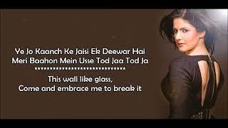 Aaj Zid   Arijit Singh   Aksar 2   Lyrical Video W