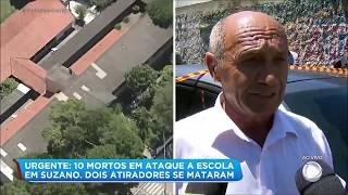Vídeo mostra momento em que atiradores chegaram na escola de Suzano (SP)