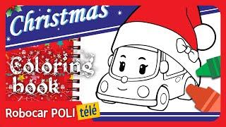 Robocar Poli | MINI | livre à colorier | Christmas