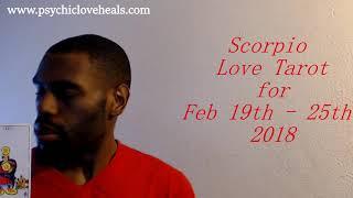 "SCORPIO ""TENSION CAN MELT AWAY... NOT OVERNIGHT"" LOVE TAROT FEB 19TH – 25TH 2018"