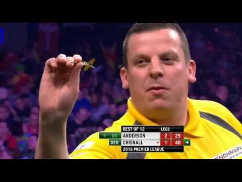 Premiere League darts week 8 Anderson vs Chisnall