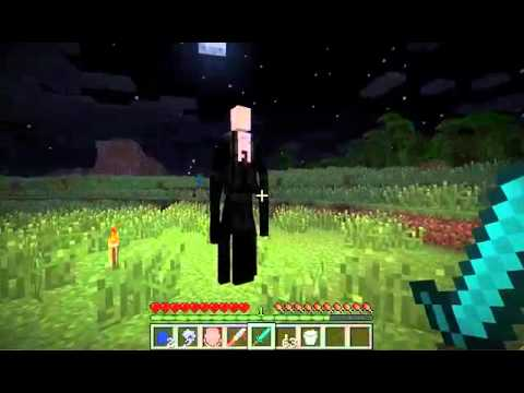 Minecraft: Slender Mod! - SCARY AS POOP :O - Uberagon - YouTube