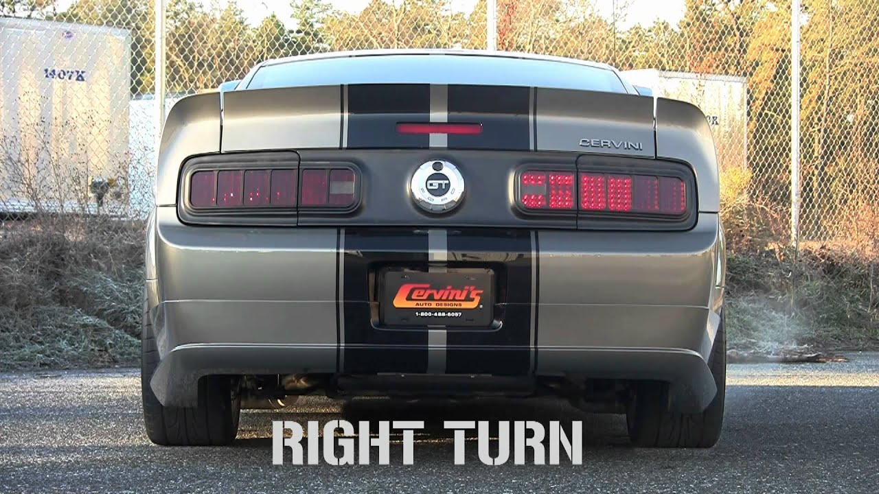 Cervini S 05 09 Mustang Tail Light Conversion Kit Youtube