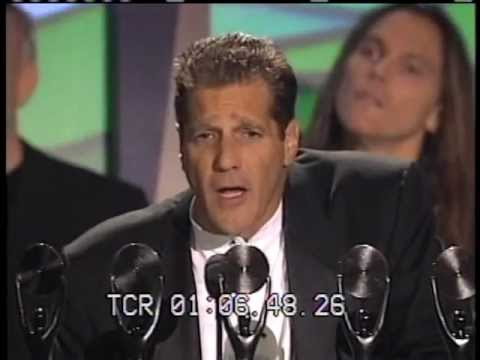 Members of the Eagles accept Rock and Roll Hall of Fame Awards in 1998 