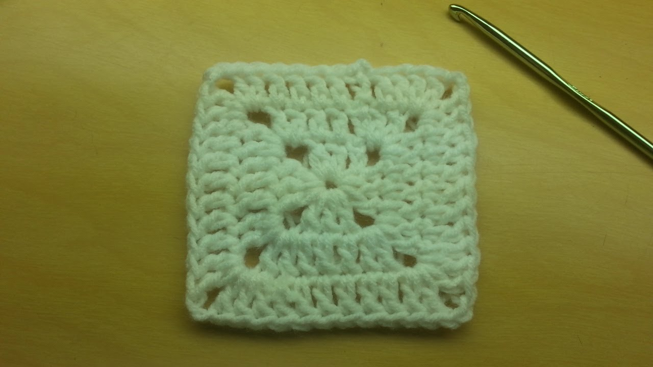 Learn to #Crochet this Basic Granny Square Free TUTORIAL