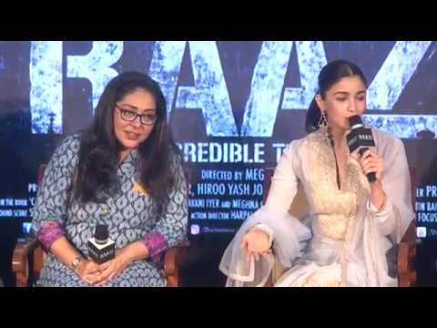 Trailer Launch of Movie Raazi with alia bhatt आलिआ भट्ट राज़ी ट्रेलर  लांच thumbnail