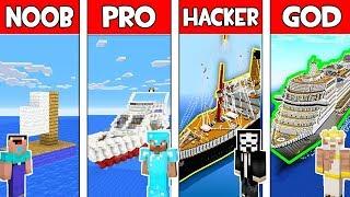Minecraft - NOOB vs PRO vs HACKER vs GOD : BOAT in Minecraft ! AVM SHORTS Animation