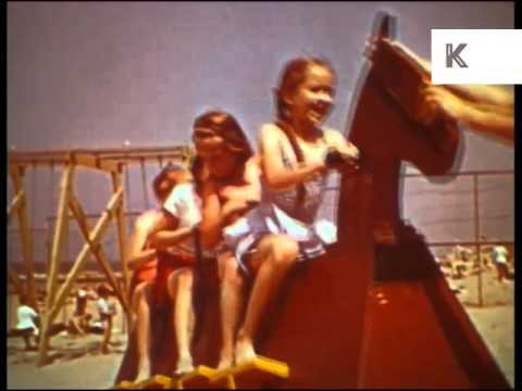 1960s Europe Seaside Resort, Sailing, Beach, Holiday, Colour Archive Footage