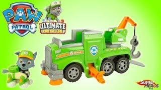 Pat Patrouille Ultimate Rescue Dépanneuse de Rocky Véhicules Paw Patrol Jouets Toy Review Noel 2018