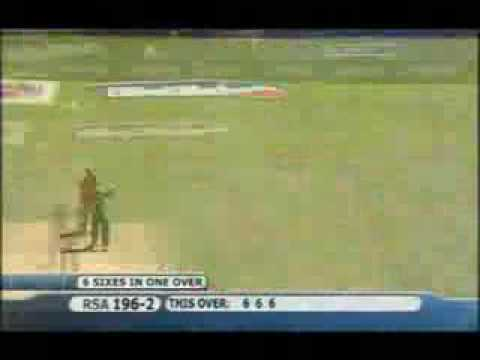 Hershell Gibbs Hits 6 Sixes In A Over Video Awesome video