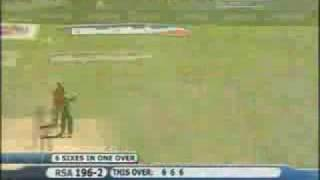 Hershell Gibbs Hits 6 Sixes In A Over Video awesome