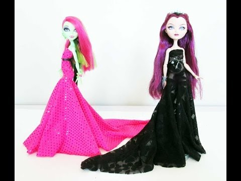 How to Make a Doll Dress with a Train Tutorial