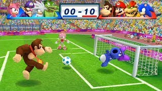 Mario & Sonic At The London 2012 Olympic Games Football Donkey Kong, Mario, Bowser and Sonic