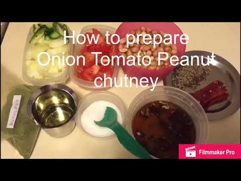 Ulli -Tomato - Palli Chutney | Onion Tomato Peanut Chutney