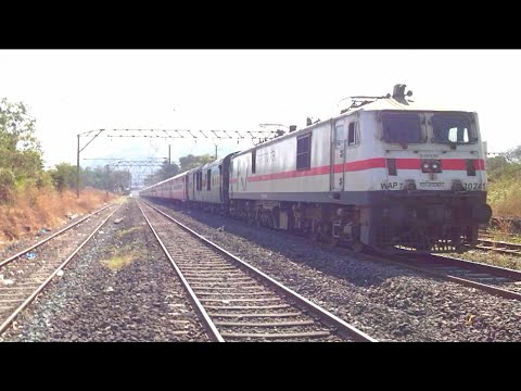 Gzb Wap-7 With 12263 Pune - Nzm Ac Duronto Honks And Smoothly Skips Neral...!!! video