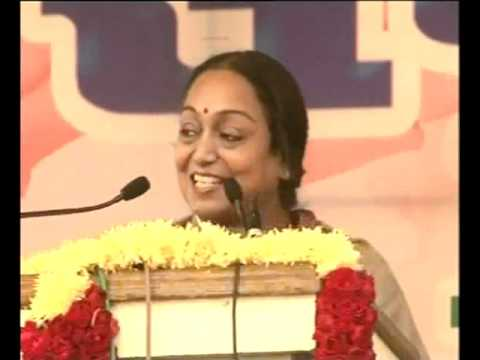 Lok Sabha Speaker Meira Kumar's addressal in Bhojpuri.flv