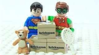 Lego Superman and Robin Brick Box Shuffle Game Play Superhero Fun Animation Cartoon