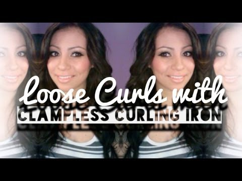 Loose Curls with Clampless Curling Iron