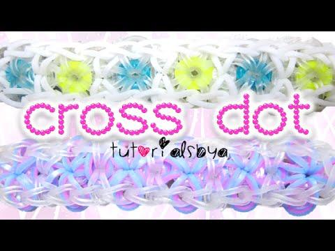 Cross Dot Rainbow Loom Bracelet Tutorial   How To