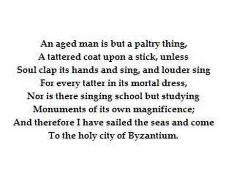 Sailing to Byzantium by WB Yeats