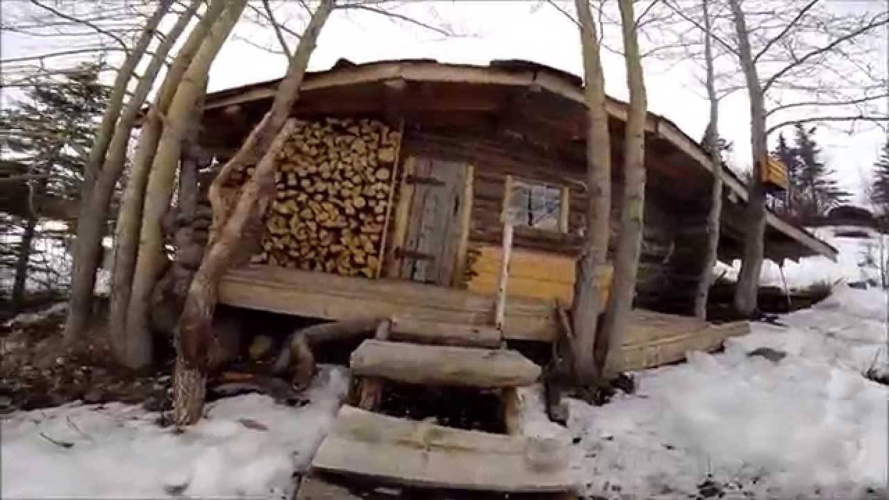 Trapper cabin youtube for Building a cabin in alaska