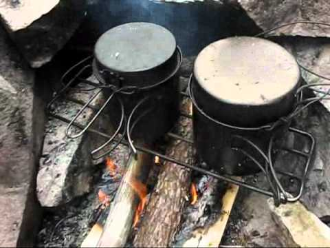 Cooking on Purcell Grill: Boreal Spring Solo Canoe Trip 2012, Part 3