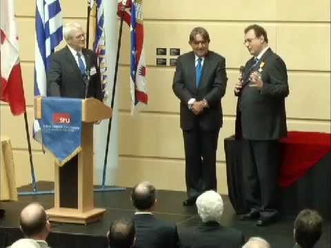SFU inauguration ceremony for the Stavros Niarchos Foundation Centre for Hellenic Studies