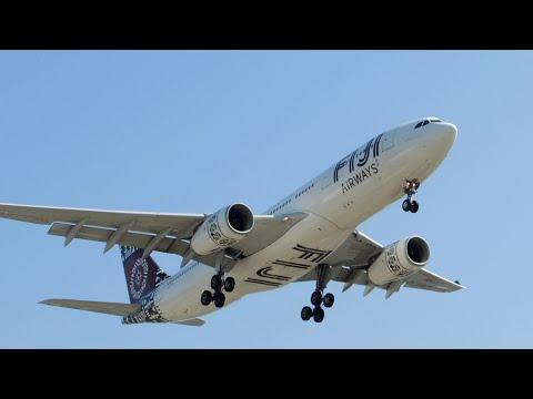 Fiji Airways Airbus A330-200 [DQ-FJU] landing in LAX