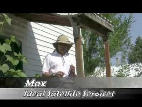 How to run coax for a satellite installation.wmv