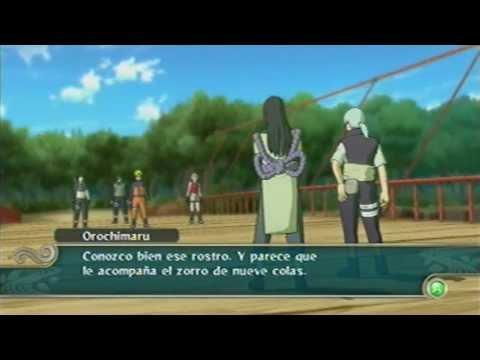 Naruto Vs Orochimaru El Zorro De Las 4 Colas Naruto Shippuden -ultimate Ninja Storm 2 - Capitulo 4 video